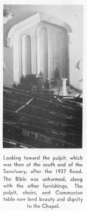 Picture of 1st Prez Sanctuary atfer the 1937 flood